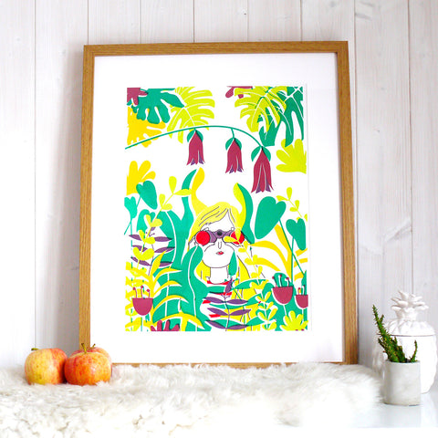 Lets Explore Screen Print by Joanna Prints