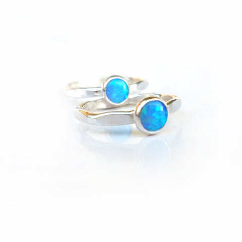 Blue Opal Multi Sided Ring