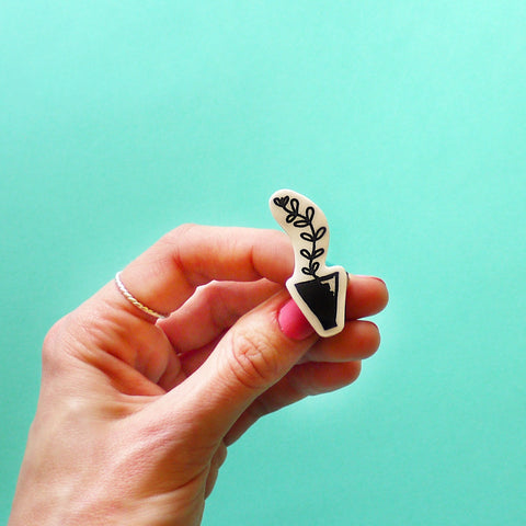 Tall Plant Pin by Joanna Prints