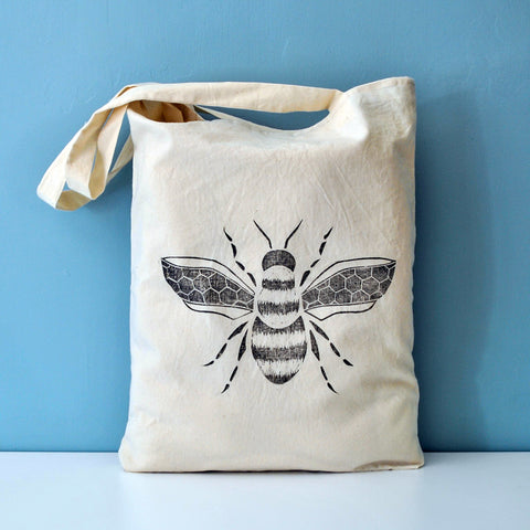 Bumble Bee Print Tote Bag