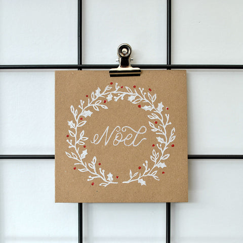 Noel Wreath Christmas Card