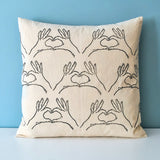 Heart Hands Cushion Cover
