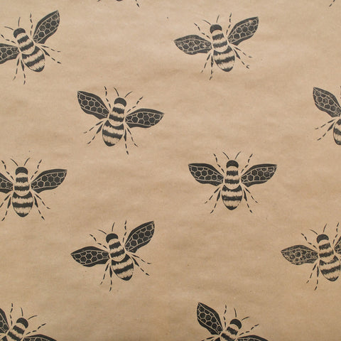 Bumble Bee Print Wrapping Paper by The Delightfully Chaotic Company