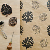 Monstera Leaf Print Wrapping Paper by The Delightfully Chaotic Company