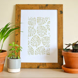 Monstera Leaf Art Print by The Delightfully Chaotic Company