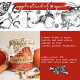 Hand Poured Candle 'Apple Strudel & Spice' with ingredients by Anna Palamar Designs