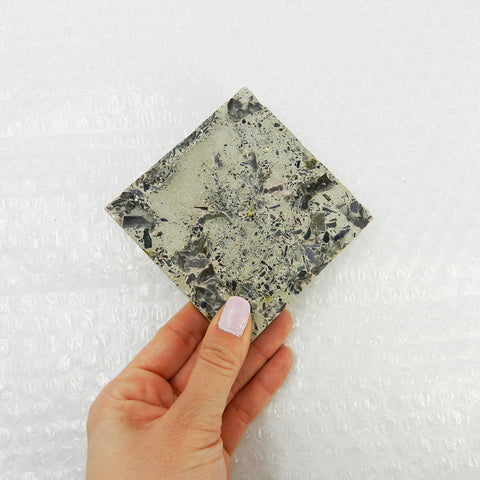 Speckled Concrete Coasters by Molcrete