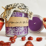 Hand Poured Candle 'Violet Jasmine & Dark Fruits' by Anna Palamar Designs