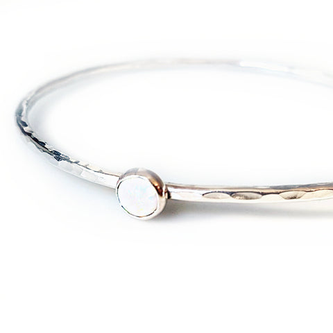 White Opal Stacking Bangle