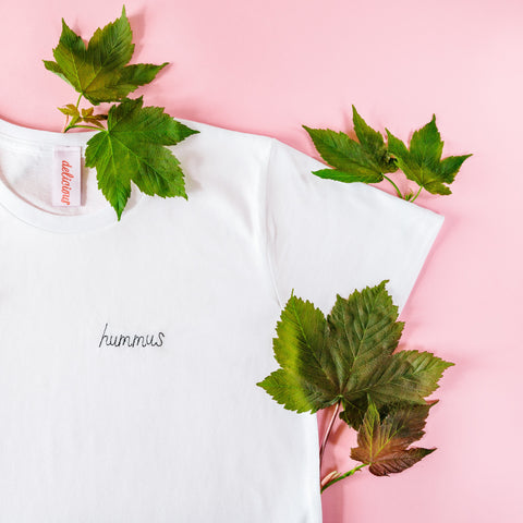 """Hummus"" Embroidered T-shirt"