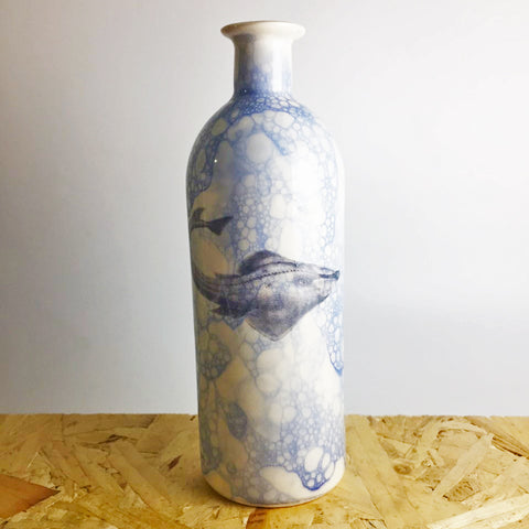 Ceramic Bottle with Shark Design