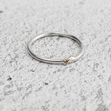 Recycled Gold & Silver Narrow Twist Ring