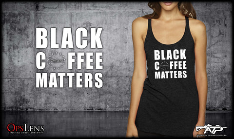 Black Coffee Matters Tri-Blend Tank
