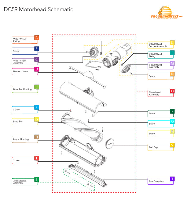 DC59 Motorhead Parts Diagram