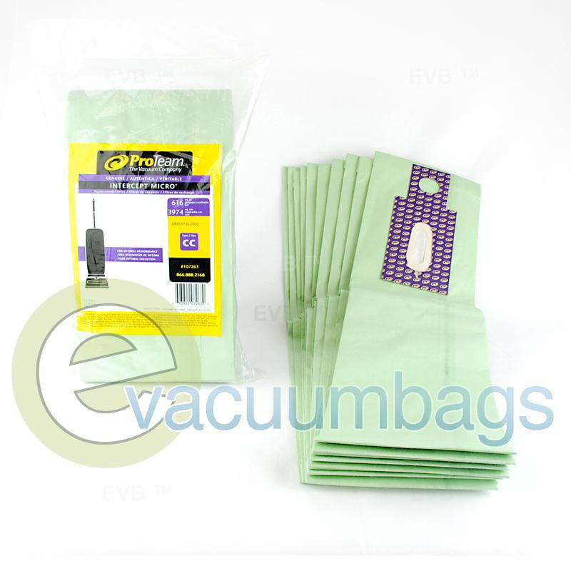 Oreck XL2000 Type CC Intercept Micro Vacuum Bags by ProTeam 10 Pack  107263 OR-1425