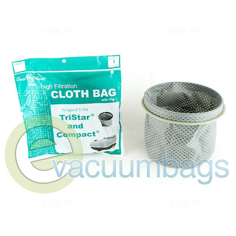 Compact TriStar Canister Cloth Vacuum Bag with Ring by Dust Care 1 pc.  12-2200-02 12-2200-02