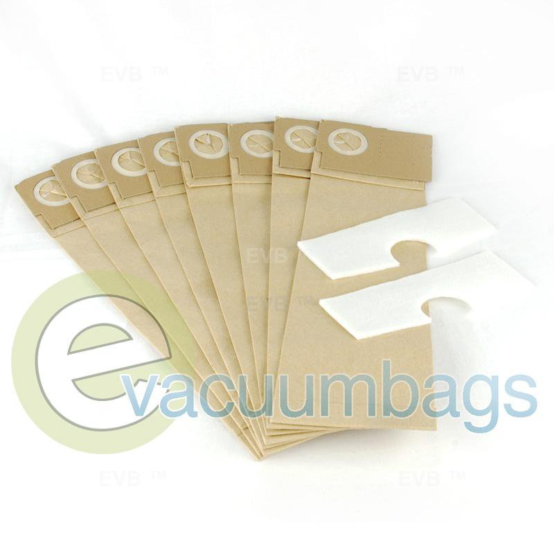 Nobles Ultra Glide Vacuum Bags 8 Pack + 2 Filters  ECC352 14-2466-07
