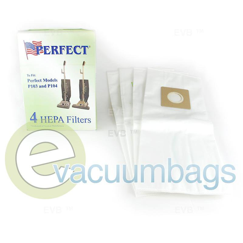 Perfect P103 P104 Upright HEPA Filter Vacuum Bag 4 Pack  15-1801 PE-1405