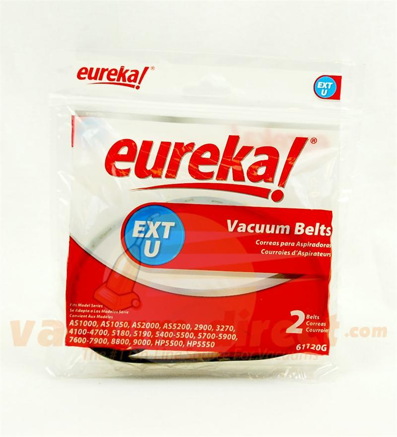 Eureka Type U Extended Life Vacuum Belts 2 Pack Genuine Eureka Parts 21-3116-02