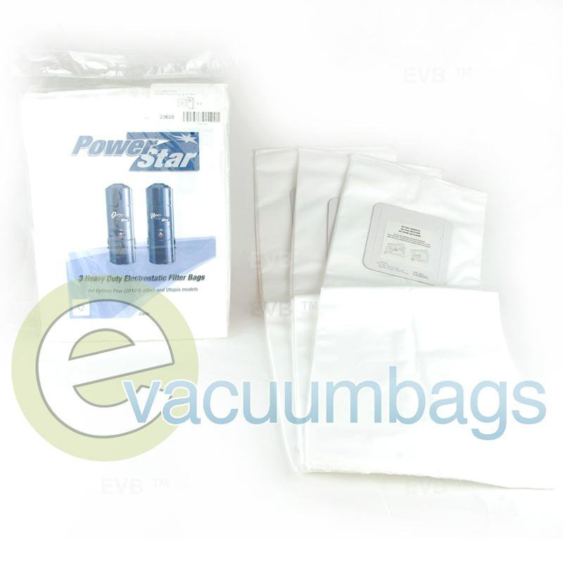 Power Star Utopia and Optima Plus New Style Model Filter Vacuum Bags 3 Pack  23659 PS-23659