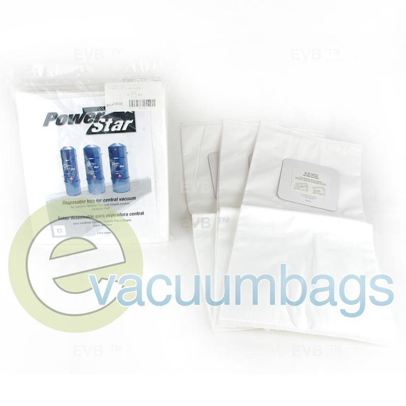 Power Star Central Vac Paper Vacuum Bag 3 Pack  TDSAC20P PS-23668