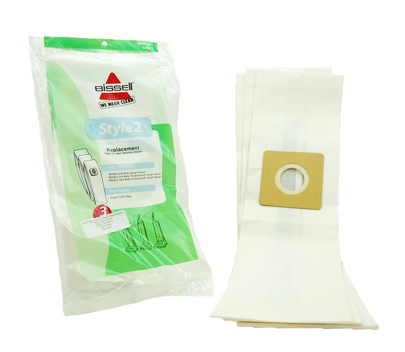 Bissell Style 2 Upright & Singer SUB-3 Vacuum Bags 3 Pack 19-2406-02