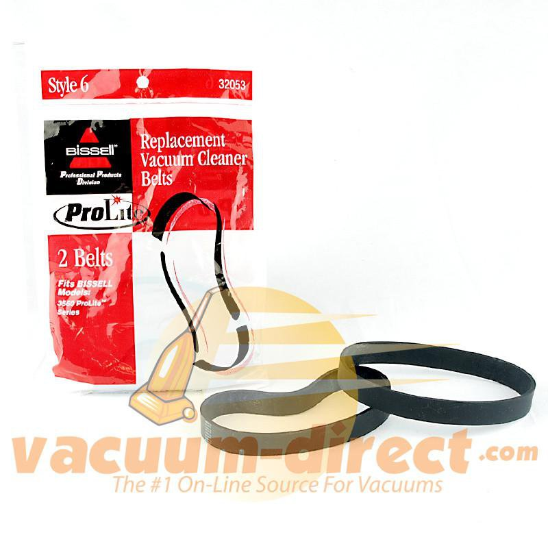 Bissell Genuine 3560 & 3561 ProLite Series Model Style 6 Vacuum Belt 2 pack 19-3103-09