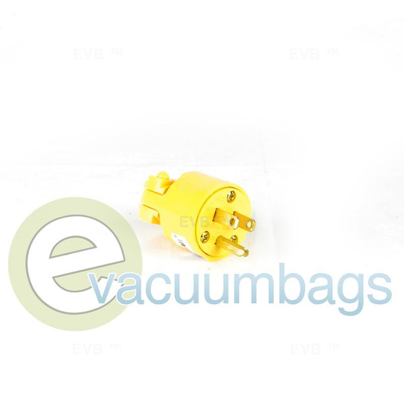 Fit All Commercial Grade Wiring 4867-BOX 3 Wire Grounded Vinyl Plug Yellow 1 pc.  4867 32-5624-64
