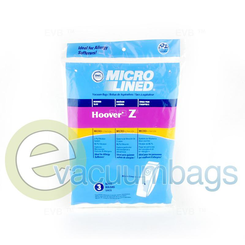 Hoover Style Z Micro-Lined Upright Paper Vacuum Bags by DVC, Generic 3 Pack #437638