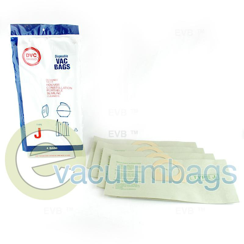 Hoover Style J Canister Paper Vacuum Bags by DVC 4 Pack  405396 40-2400-02