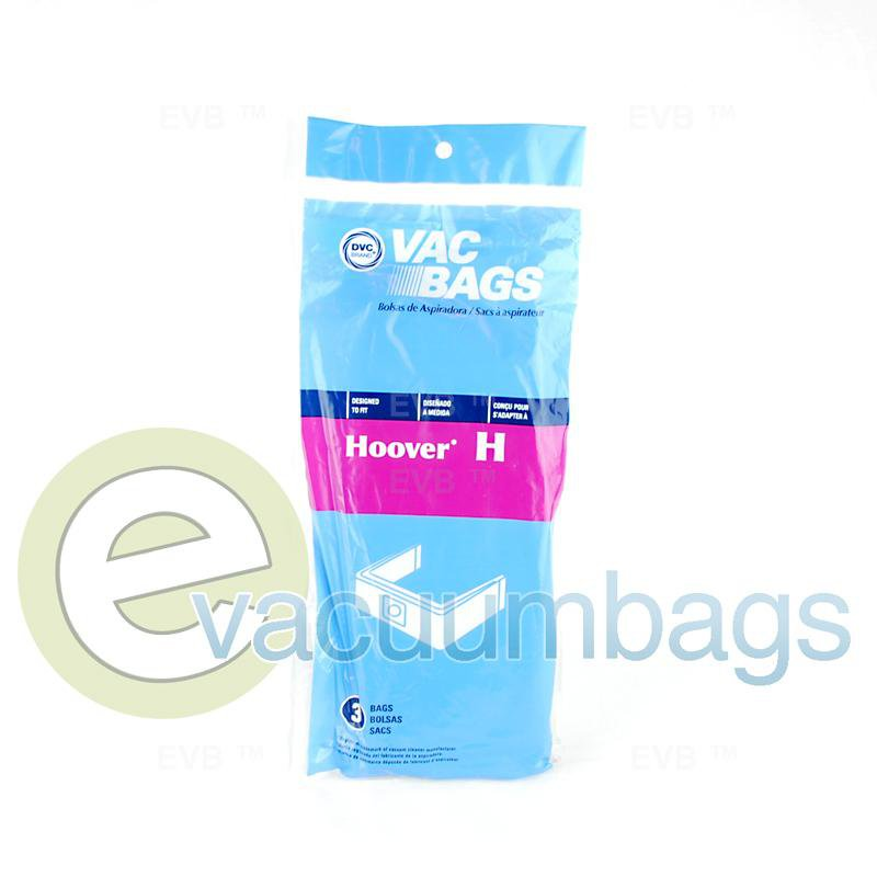 Hoover Type H Canister Paper Vacuum Bags by DVC, Generic 3 Pack #405388