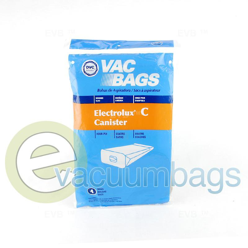 Electrolux Style C Canister Paper Vacuum Bags by DVC 4 Pack  405124 EXR-14005