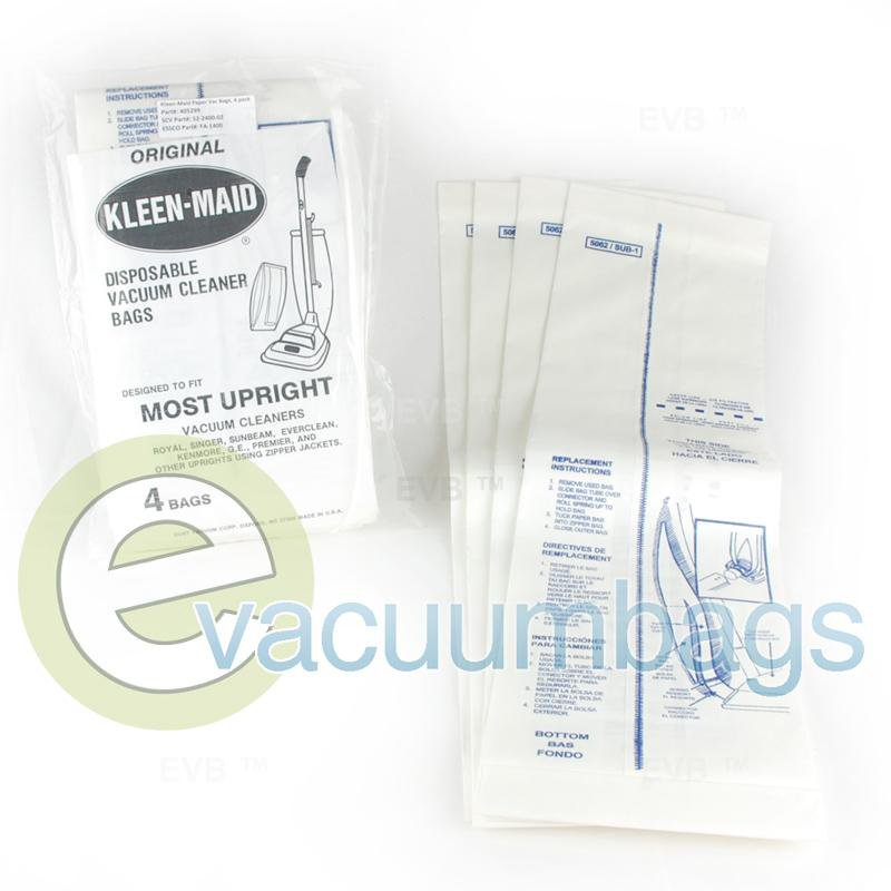 Kleen-Maid Type F&G Upright Paper Vacuum Bags 4 Pack  405299 52-2400-02