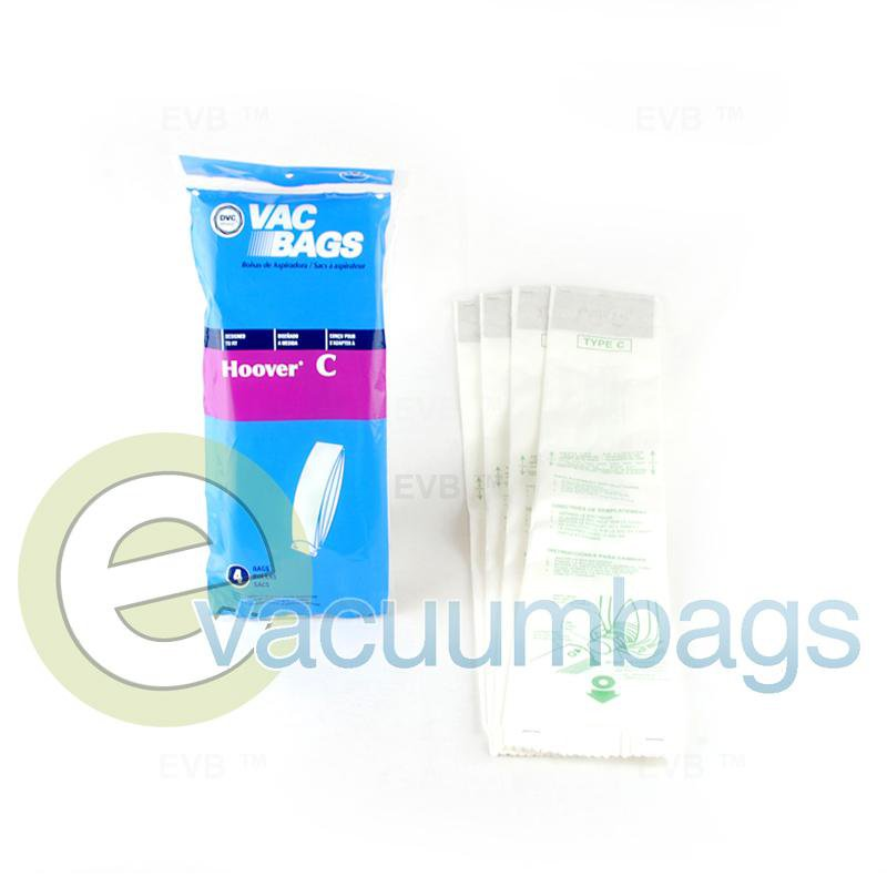 Hoover Style C Upright Paper Vacuum Bags by DVC, Generic 4 Pack #405345