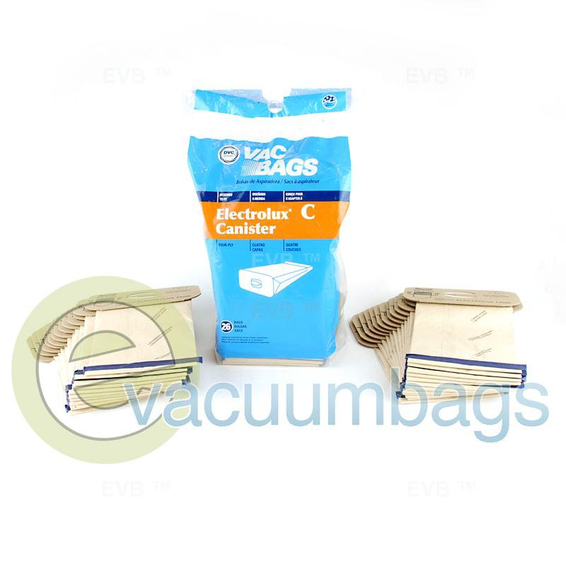 Electrolux Style C Canister Paper Vacuum Bags by DVC DC26 Pack  409715 EXR-14105