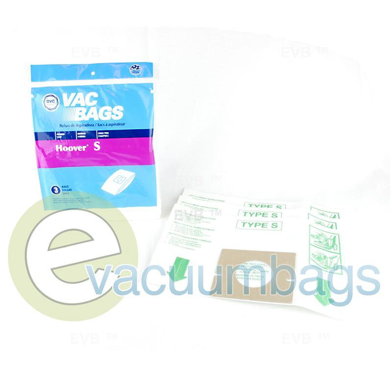 Hoover Type S Canister Paper Vacuum Bags by DVC 3 Pack  428191 40-2439-07