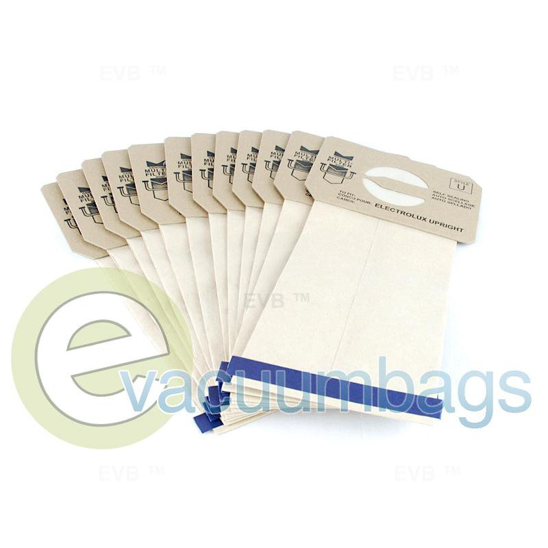Electrolux Style U Discovery Upright Paper Vacuum Bags by DVC Generic 12 Pack  423513 EXR-14505