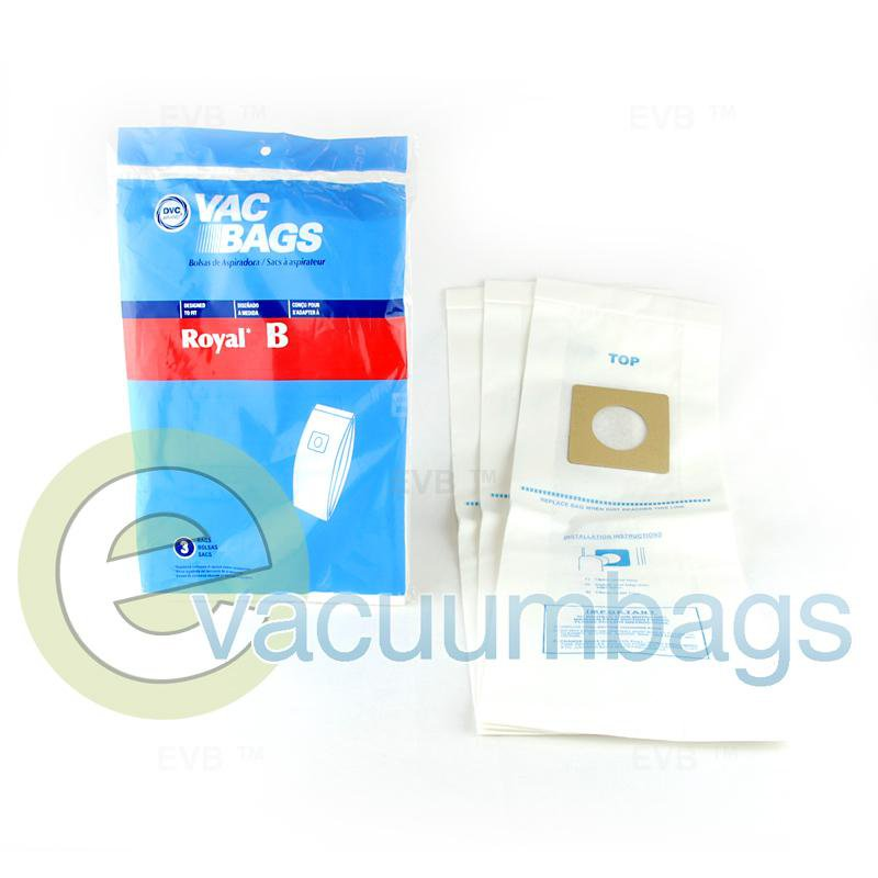 Royal Type B Upright Vacuum Bags by DVC 3 Pack  429929 80-2410-01