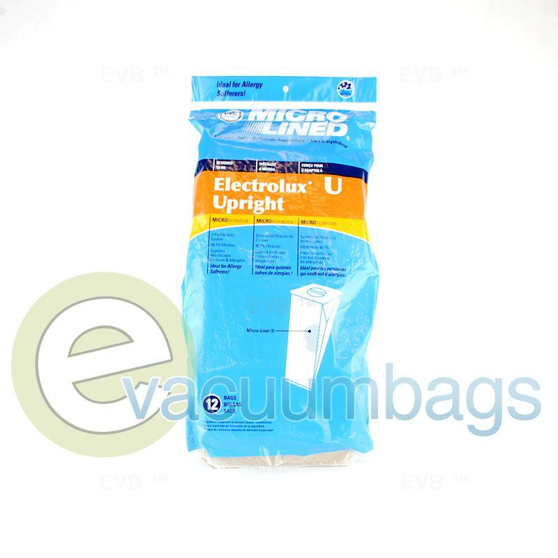 Electrolux Style U Discovery Micro-Lined Upright Paper Vacuum Bags by DVC Generic 12 Pack  435570 EXR-1480