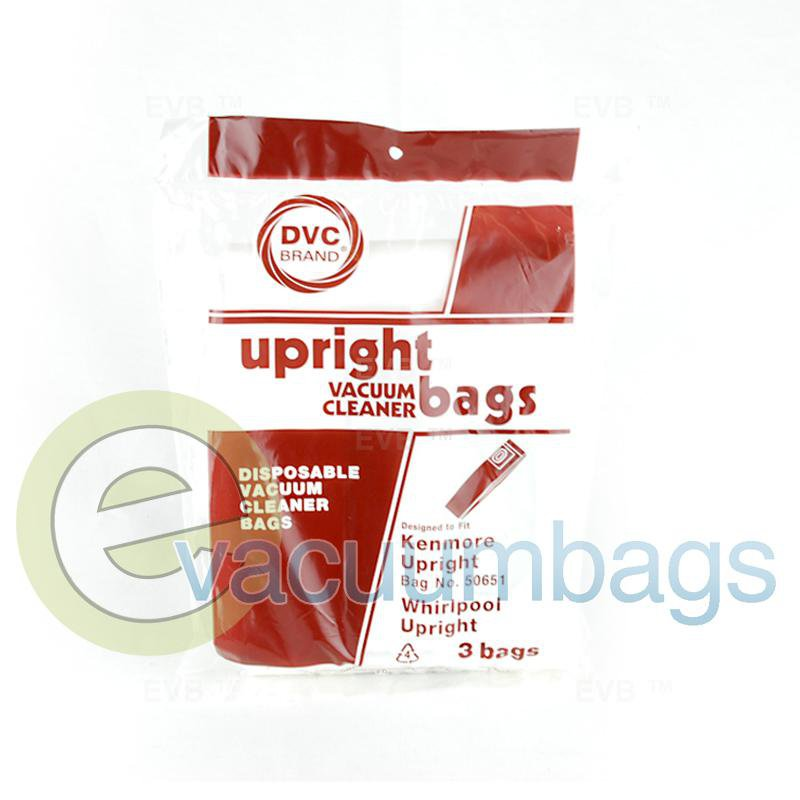 Kenmore Type L 5065 50651 Upright Paper Vacuum Bags by DVC 3 Pack  424412 KER-14655