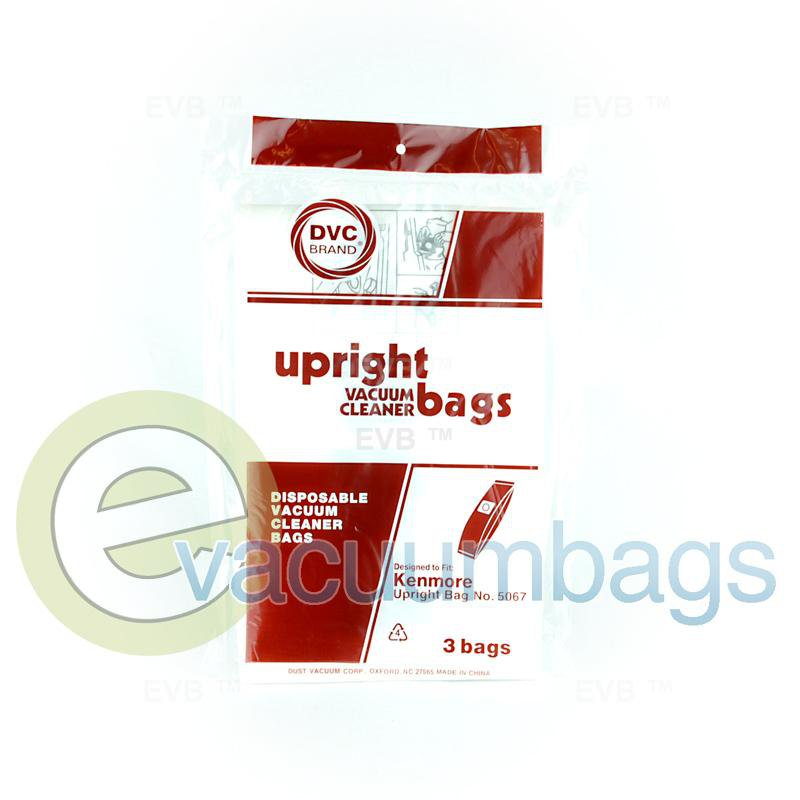 Kenmore Type X 5067 Upright Paper Vacuum Bag by DVC, 3 Pack #436968