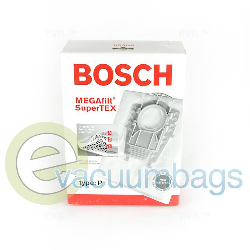 Bosch Type P Genuine Paper Vacuum Bags 5 Pack +1 Filter  462586 BO-14010