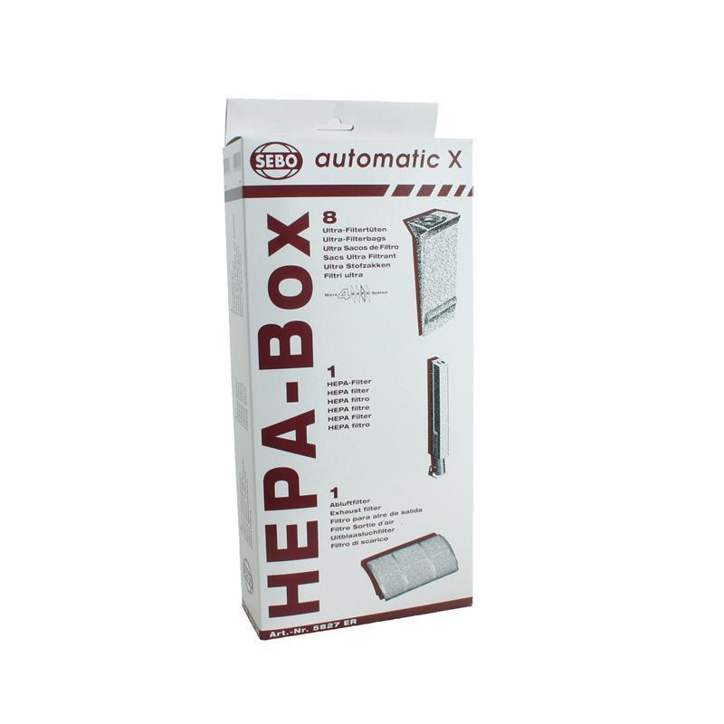 SEBO Automatic X Series HEPA Service Box Bags & Filters 5827ER