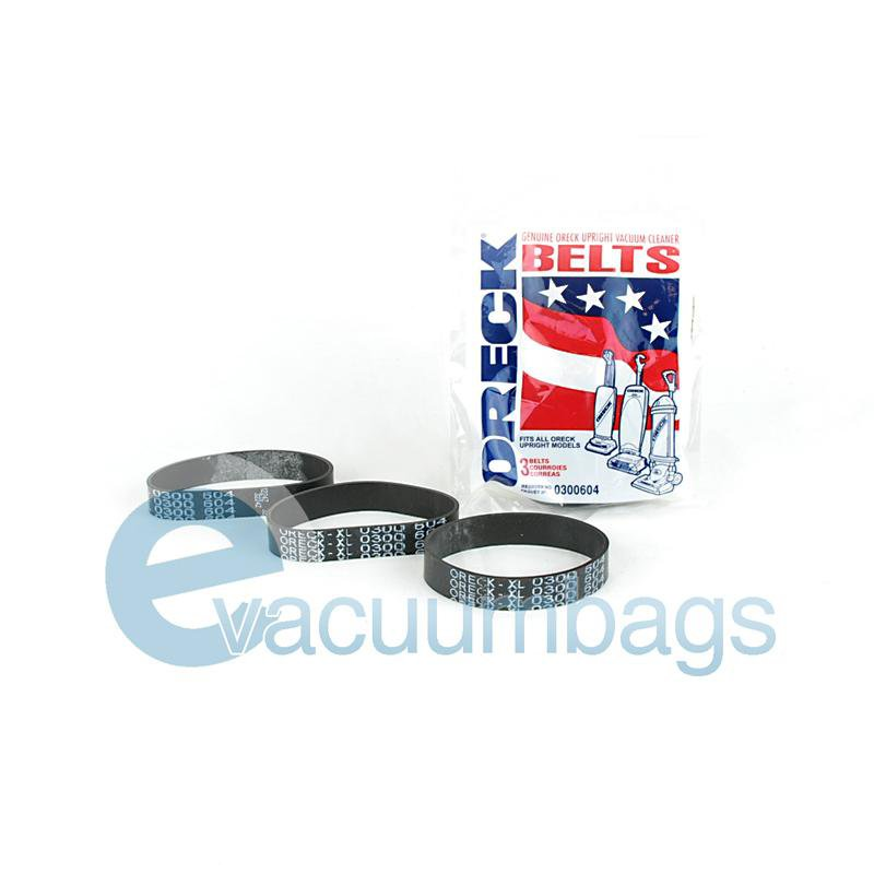 Oreck Upright Flat Vacuum Belt 3 Pack  030-0604 59-3108-04