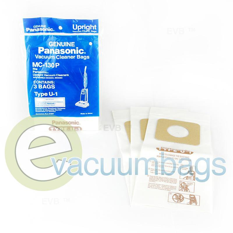 Panasonic Type U-1 Genuine Upright Paper Vacuum Bags 3 Pack  MC130P 61-2415-04