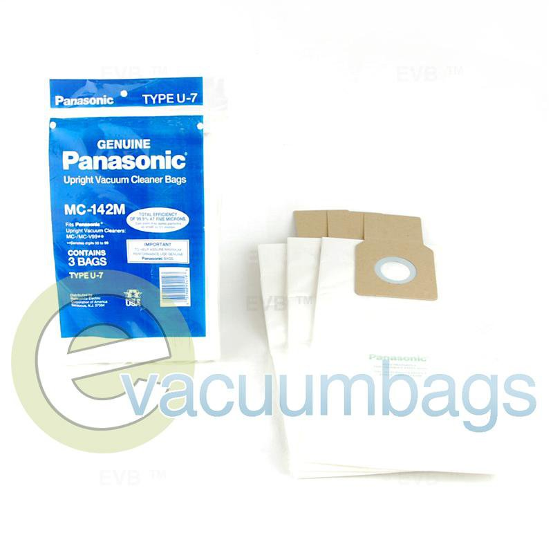 Panasonic Type U-7 Upright Paper Vacuum Bags 3 Pack  MC-142M 61-2429-01
