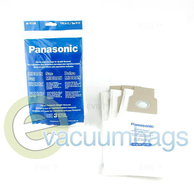 Panasonic Type U-12 Paper Vacuum Bags 3 Pack  MC-V155M 61-2440-09