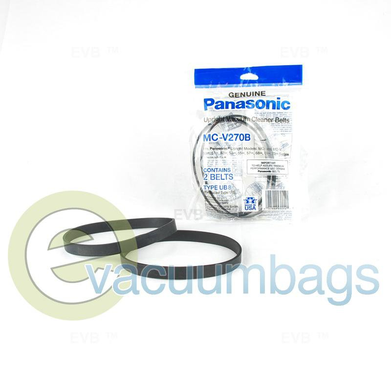 Panasonic Type UB-8 Flat Vacuum Belt 2 Pack  MC-V270B 61-3117-07