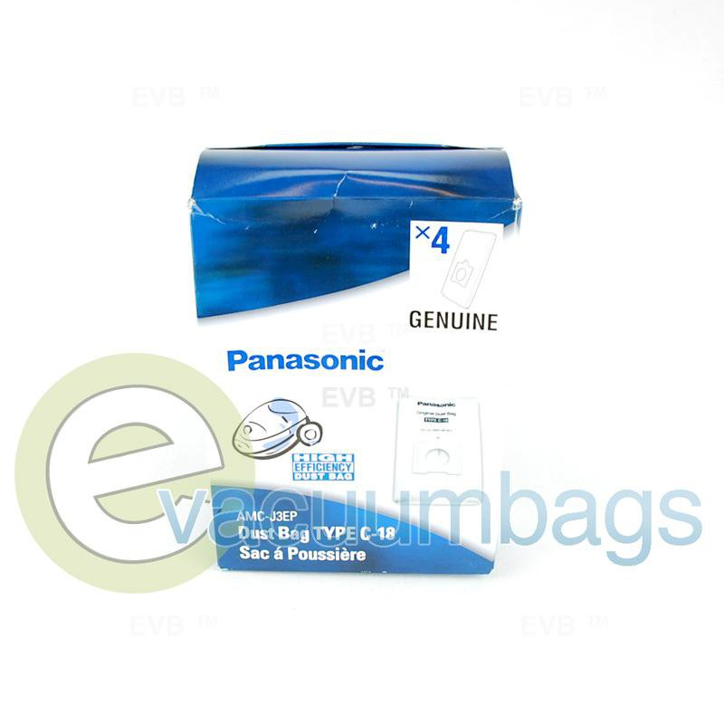 Panasonic Style C-18 Canister Paper Vacuum Bags 4 Pack  AMC-J3EP 63-2429-03