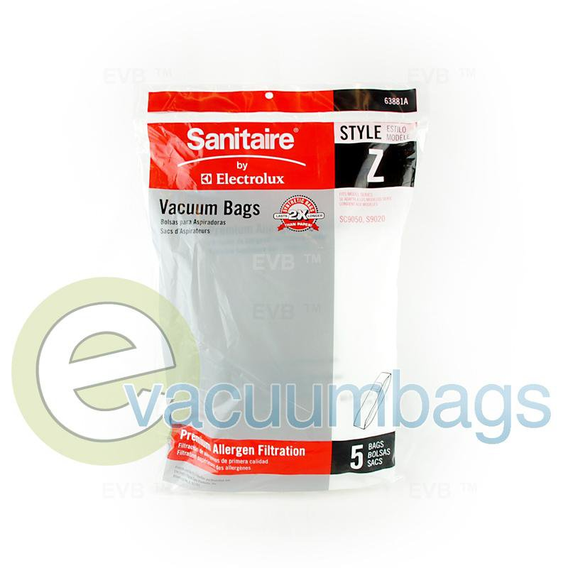 Sanitaire Style Z Upright Synthetic Vacuum Bags by Electrolux 5 Pack  63881A 21-2416-09